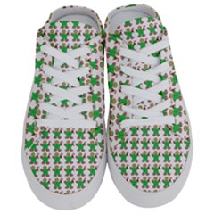 Gingerbread Men Seamless Green Background Half Slippers