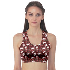 Cartoon Mouse Christmas Pattern Sports Bra