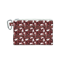 Cartoon Mouse Christmas Pattern Canvas Cosmetic Bag (small)