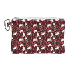 Cartoon Mouse Christmas Pattern Canvas Cosmetic Bag (large)