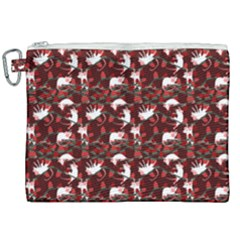 Cartoon Mouse Christmas Pattern Canvas Cosmetic Bag (xxl)