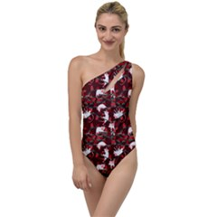 Cartoon Mouse Christmas Pattern To One Side Swimsuit