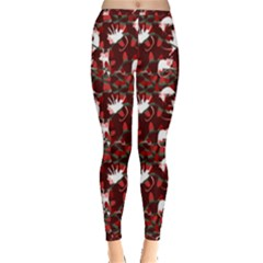Cartoon Mouse Christmas Pattern Inside Out Leggings