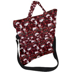 Cartoon Mouse Christmas Pattern Fold Over Handle Tote Bag
