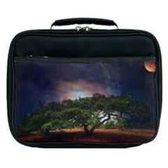 Lone Tree Fantasy Space Sky Moon Lunch Bag by Alisyart