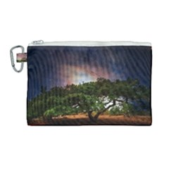 Lone Tree Fantasy Space Sky Moon Canvas Cosmetic Bag (large) by Alisyart