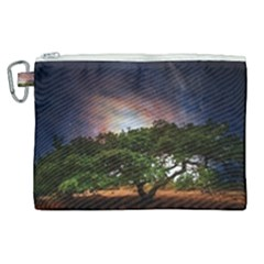 Lone Tree Fantasy Space Sky Moon Canvas Cosmetic Bag (xl)