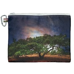 Lone Tree Fantasy Space Sky Moon Canvas Cosmetic Bag (xxl)