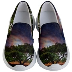 Lone Tree Fantasy Space Sky Moon Kid s Lightweight Slip Ons