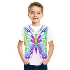 Rainbow Butterfly Kids  Basketball Tank Top