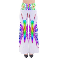 Rainbow Butterfly So Vintage Palazzo Pants