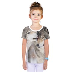 Lovable Wolves Kids  One Piece Tee