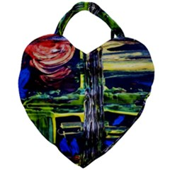 Between Two Moons 1 Giant Heart Shaped Tote by bestdesignintheworld