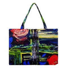 Between Two Moons 1 Medium Tote Bag by bestdesignintheworld