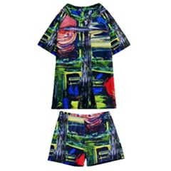 Between Two Moons 1 Kids  Swim Tee And Shorts Set