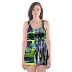 Between Two Moons 1 Skater Dress Swimsuit