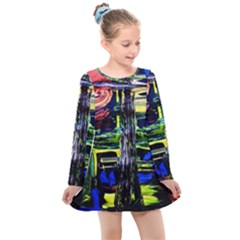 Between Two Moons 1 Kids  Long Sleeve Dress