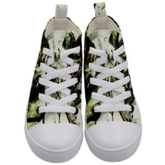 There Is No Promisse Rain 4 Kid s Mid Top Canvas Sneakers