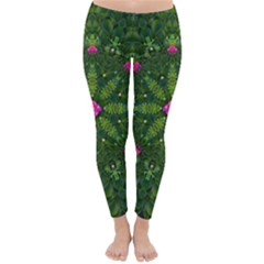 The Most Sacred Lotus Pond  With Bloom    Mandala Classic Winter Leggings