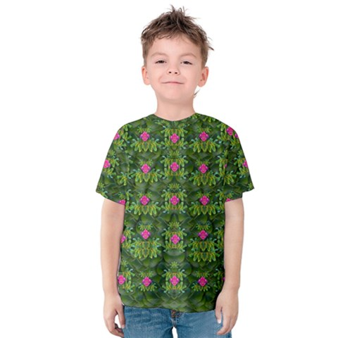 The Most Sacred Lotus Pond With Fantasy Bloom Kids  Cotton Tee by pepitasart