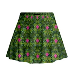 The Most Sacred Lotus Pond With Fantasy Bloom Mini Flare Skirt