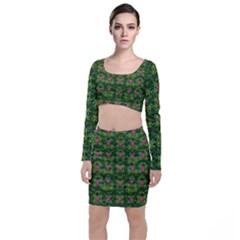 The Most Sacred Lotus Pond With Fantasy Bloom Top And Skirt Sets