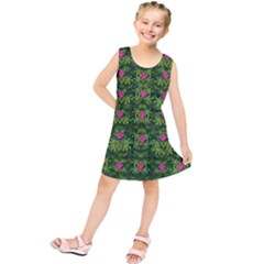 The Most Sacred Lotus Pond With Fantasy Bloom Kids  Tunic Dress