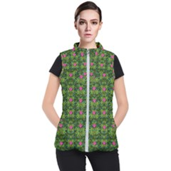 The Most Sacred Lotus Pond With Fantasy Bloom Women s Puffer Vest