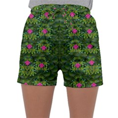 The Most Sacred Lotus Pond With Fantasy Bloom Sleepwear Shorts