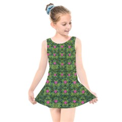 The Most Sacred Lotus Pond With Fantasy Bloom Kids  Skater Dress Swimsuit
