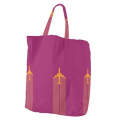 Airplane Jet Yellow Flying Wings Giant Grocery Tote