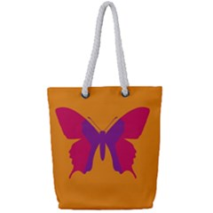 Butterfly Wings Insect Nature Full Print Rope Handle Tote (small)