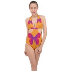 Butterfly Wings Insect Nature Halter Front Plunge Swimsuit by Nexatart