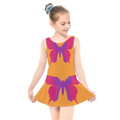 Butterfly Wings Insect Nature Kids  Skater Dress Swimsuit