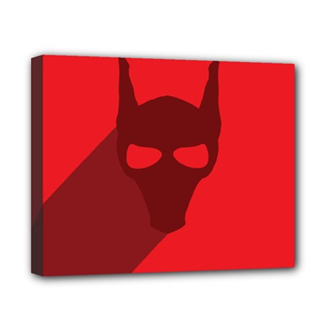 Skull Alien Species Red Character Canvas 10  X 8  (stretched)