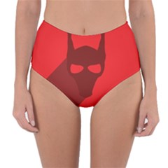Skull Alien Species Red Character Reversible High Waist Bikini Bottoms