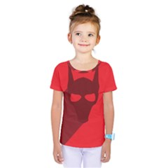 Skull Alien Species Red Character Kids  One Piece Tee