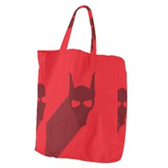 Skull Alien Species Red Character Giant Grocery Tote