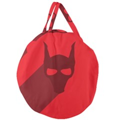 Skull Alien Species Red Character Giant Round Zipper Tote