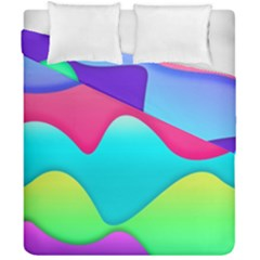 Lines Curves Colors Geometric Lines Duvet Cover Double Side (california King Size)