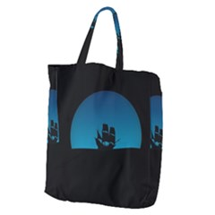 Ship Night Sailing Water Sea Sky Giant Grocery Tote