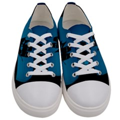 Ship Night Sailing Water Sea Sky Women s Low Top Canvas Sneakers