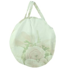 Pastel Roses Background Romantic Giant Round Zipper Tote