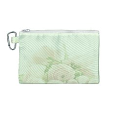 Pastel Roses Background Romantic Canvas Cosmetic Bag (medium)