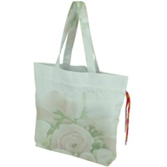 Pastel Roses Background Romantic Drawstring Tote Bag