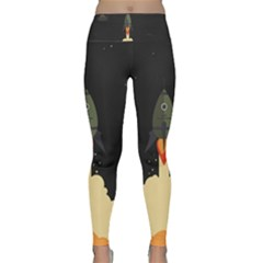 Rocket Space Stars Lightweight Velour Classic Yoga Leggings