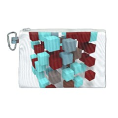 Matrix Network Data Exchange Canvas Cosmetic Bag (large) by Nexatart