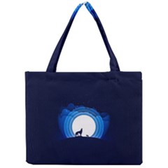 Month Full Moon Wolf Night Mini Tote Bag by Nexatart