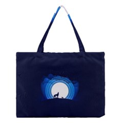 Month Full Moon Wolf Night Medium Tote Bag