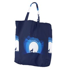 Month Full Moon Wolf Night Giant Grocery Tote